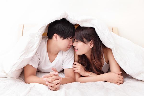 セックスした後のチンコが大きい彼氏と彼女
