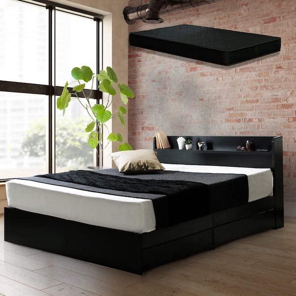 ヤリ部屋におすすめなセミダブル以上のベッド